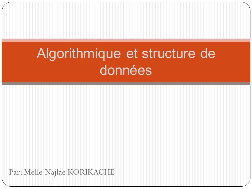 Structure de données Les types de variables Type booléen : Booléen : stocke uniquement les valeurs logiques VRAI et FAUX; le type booléen la présence ou labsence dun caractère.