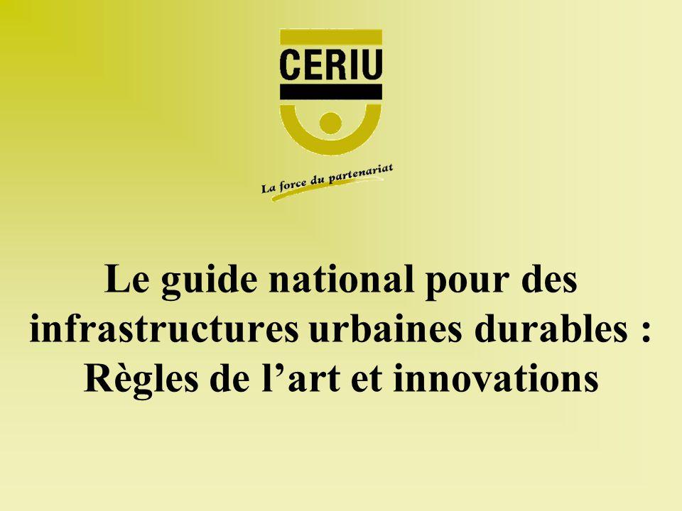 Le guide national pour des infrastructures urbaines durables : Règles de lart et innovations