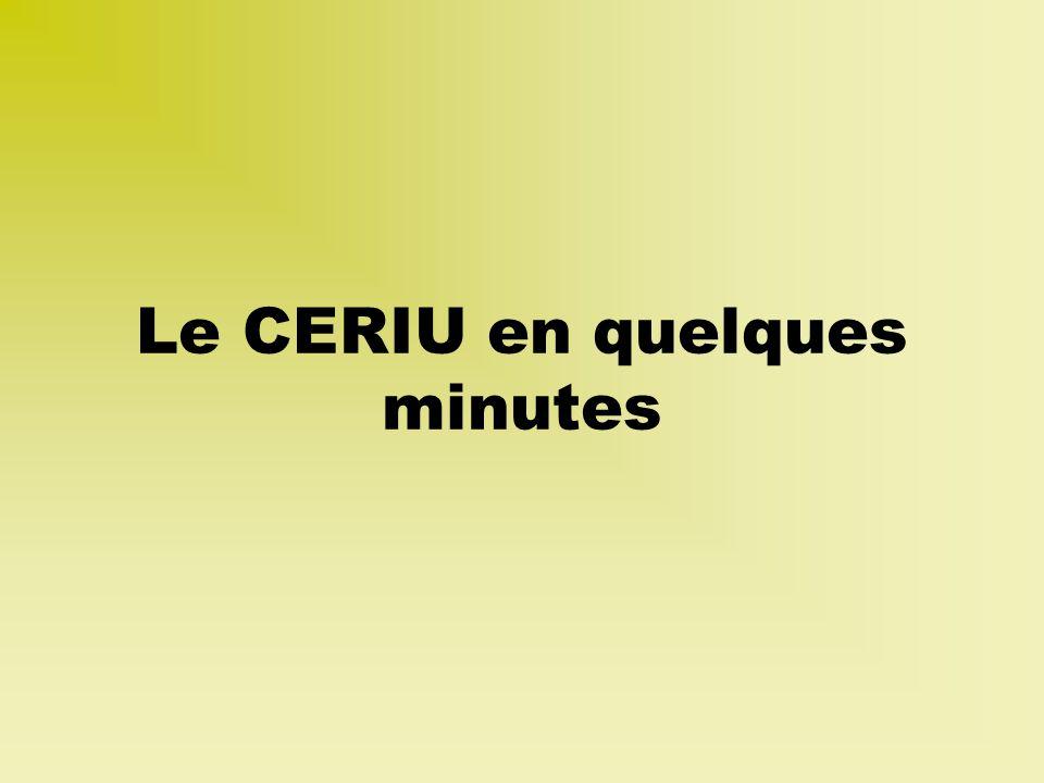 Pour nous joindre 321, rue de la Commune Ouest Montréal (Québec) H2Y 2E1 Téléphone : (514) 848-9885 http://www.ceriu.qc.ca Courriel : info@ceriu.qc.ca