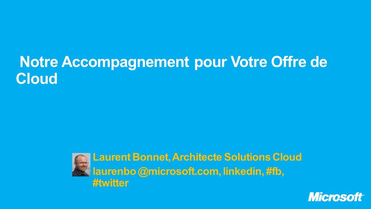 Laurent Bonnet, Architecte Solutions Cloud laurenbo @microsoft.com, linkedin, #fb, #twitter