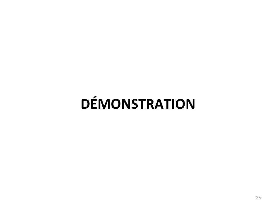 DÉMONSTRATION 36