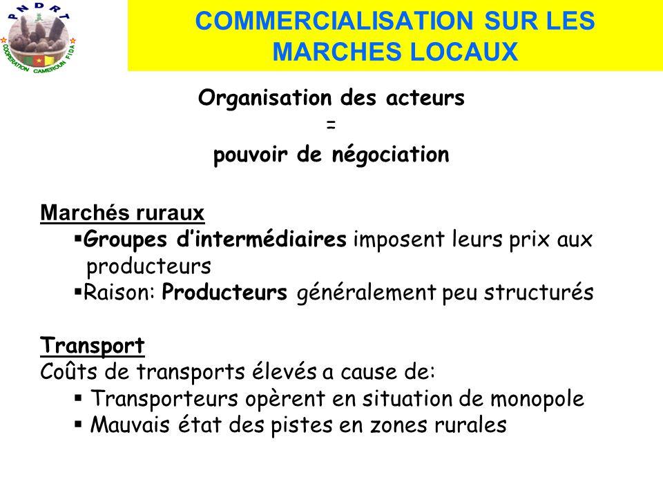 Commerce dans la sous région: Transport: par voie terrestre et par voie maritime.