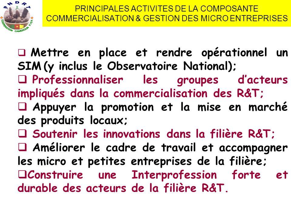 1.La mise en marché collective Préoccupations des OP locales: »Comment accéder aux marchés.