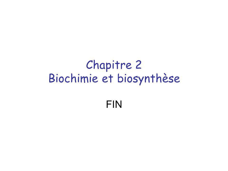 Chapitre 2 Biochimie et biosynthèse FIN