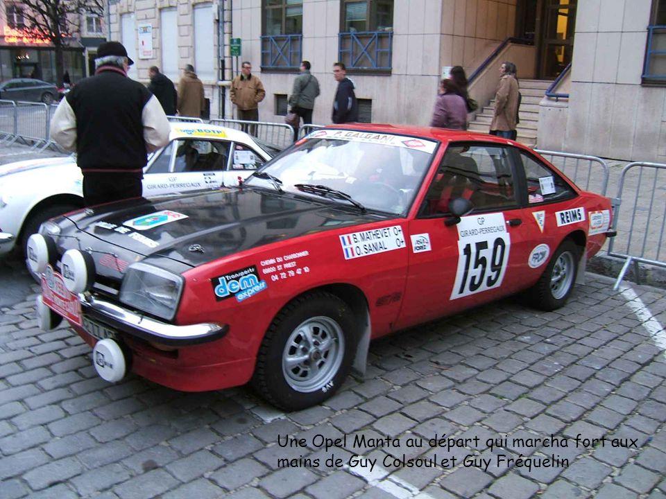 Une Opel Manta au départ qui marcha fort aux mains de Guy Colsoul et Guy Fréquelin