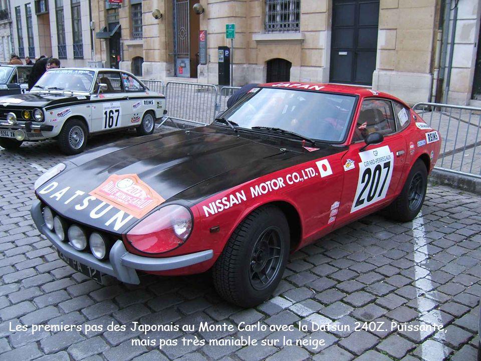 Les premiers pas des Japonais au Monte Carlo avec la Datsun 240Z.