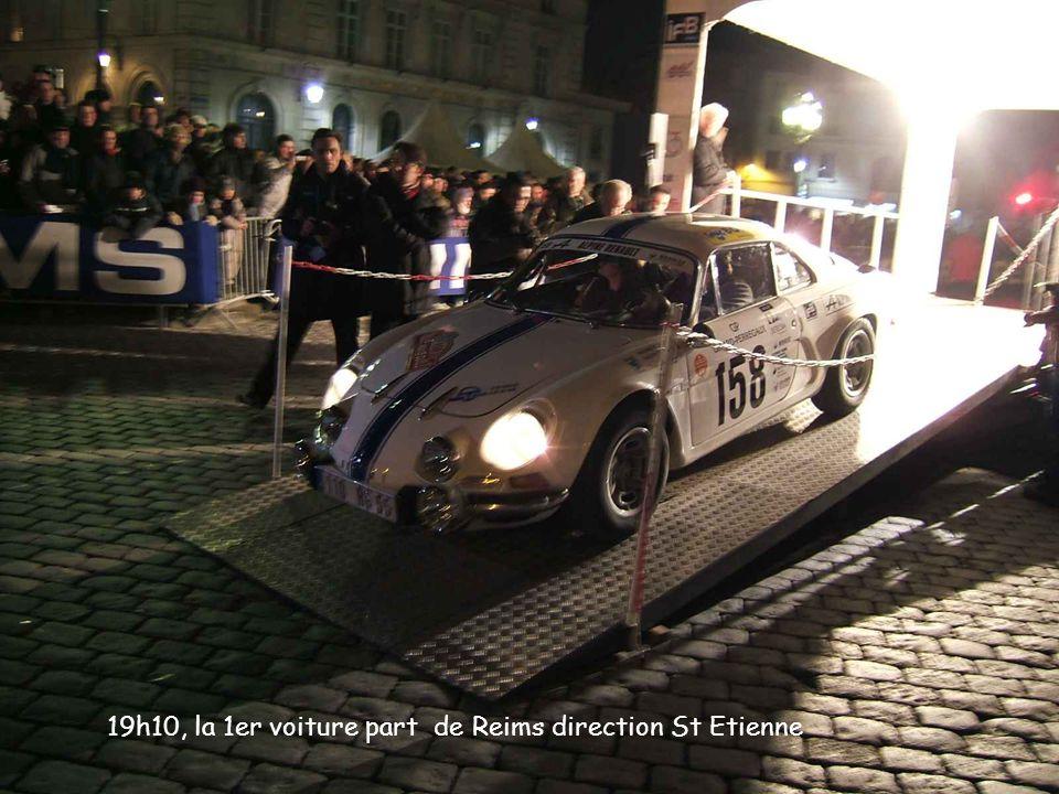 19h10, la 1er voiture part de Reims direction St Etienne