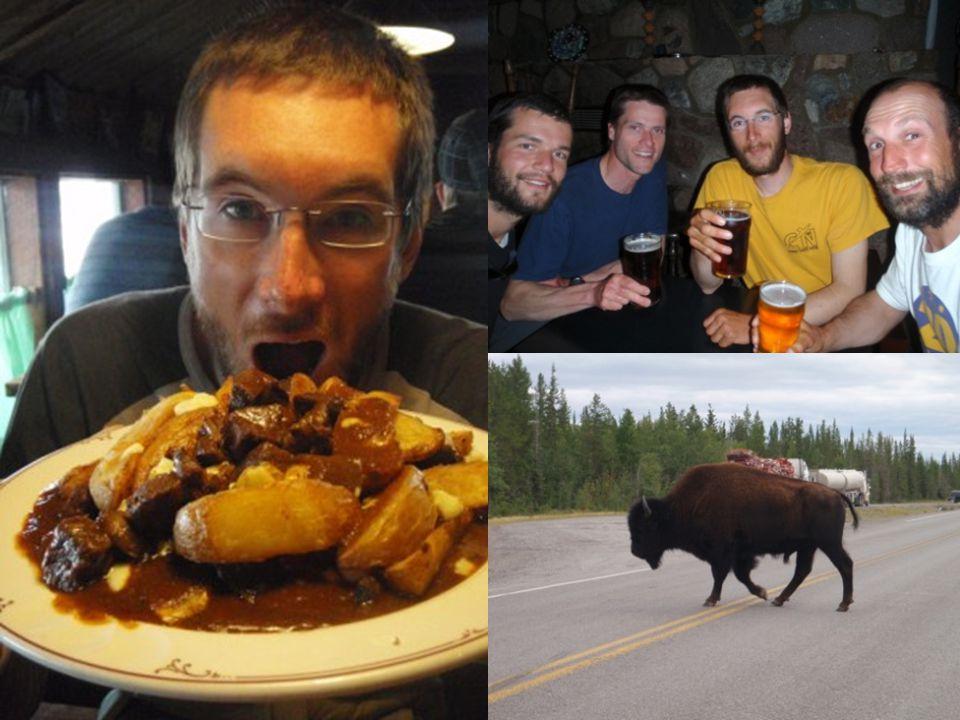 Retour a Yellowknife Une bière ! De le nourriture non lyophilisée Et un Buffalo Burger !!!!!!!!