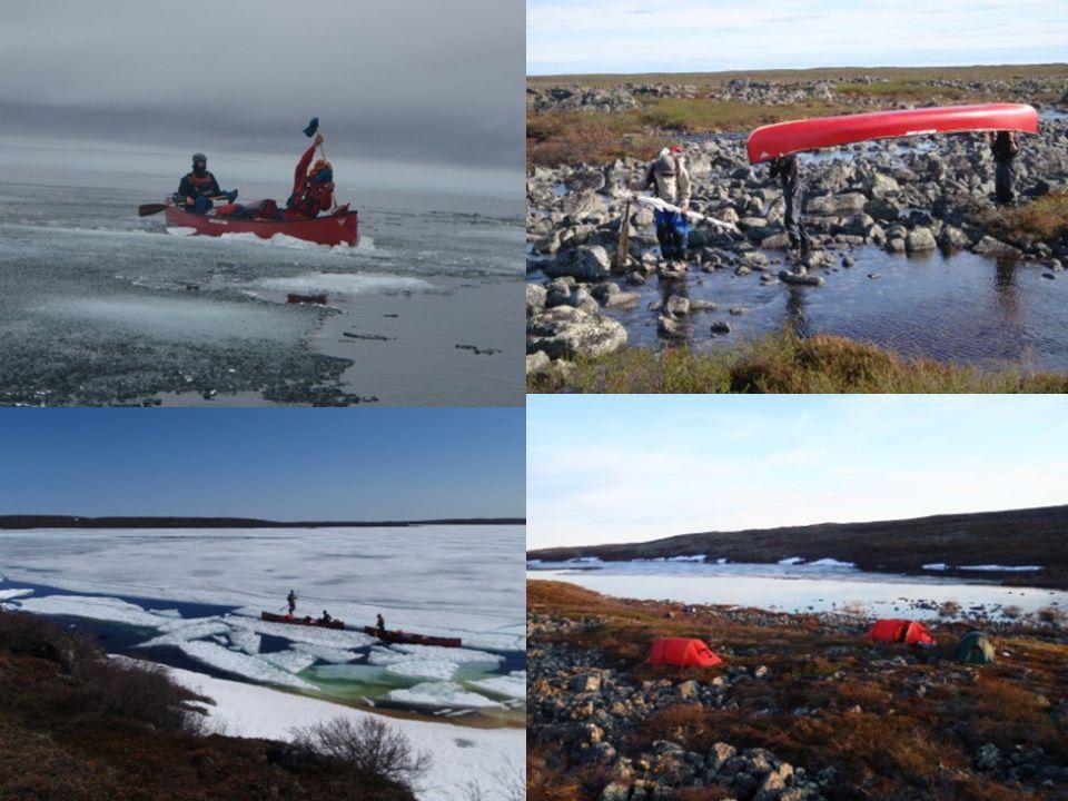 Hanburry Portage – Moraine Lake De la glace, toujours de la glace ! Du froid encore du froid Basculer de lautre côté pour enfin descendre Toujours des