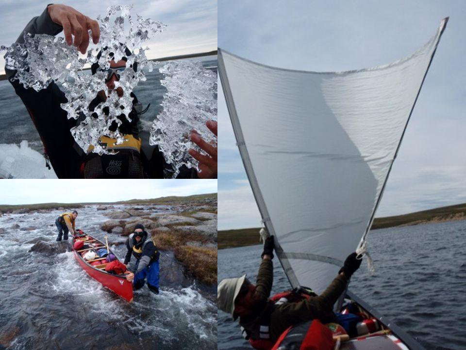 Moraine Lake - Baillie River ENFIN DE LEAU !!! Nos premiers muskox, notre premier loup ! Les dunes de Sable et les Eskers Pas de monotonie dans la Tou