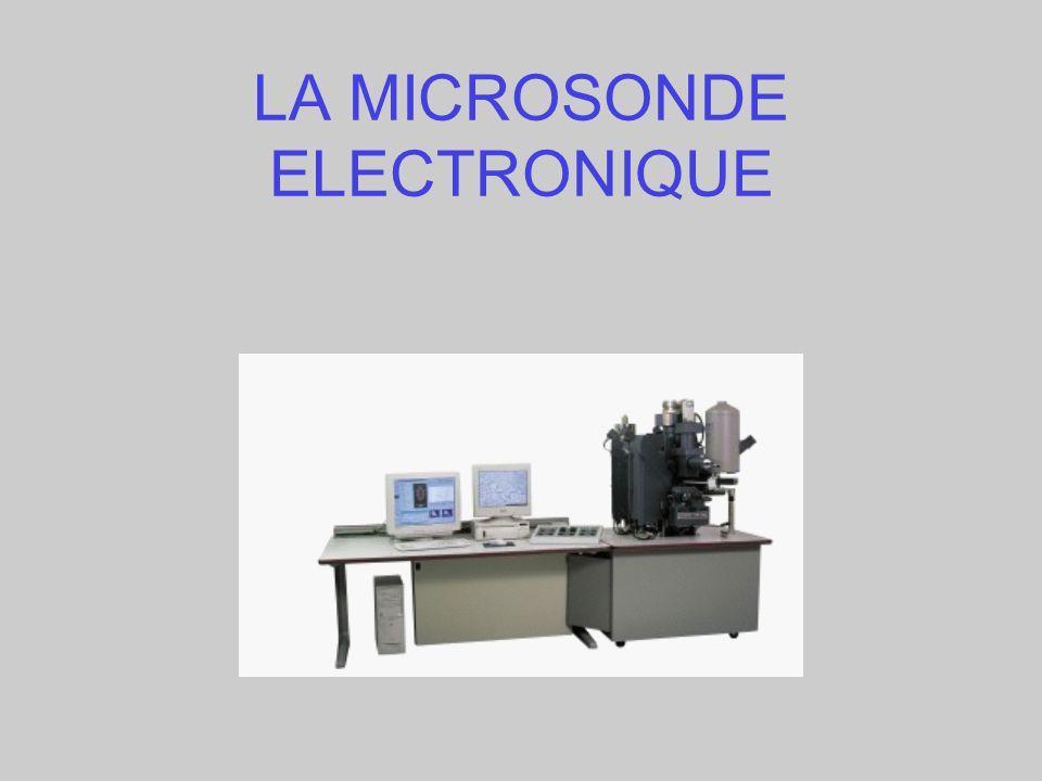 LA MICROSONDE ELECTRONIQUE