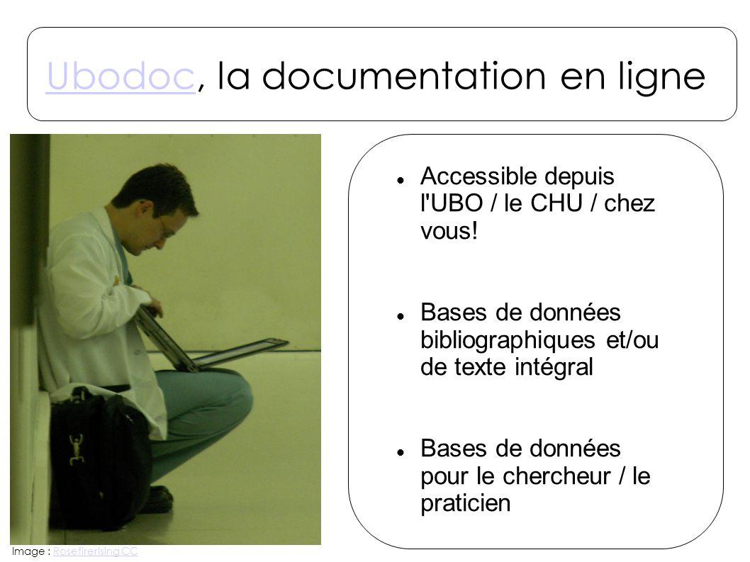 UbodocUbodoc, la documentation en ligne Accessible depuis l'UBO / le CHU / chez vous! Bases de données bibliographiques et/ou de texte intégral Bases
