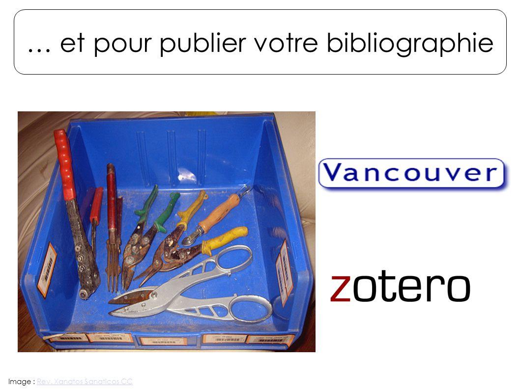 … et pour publier votre bibliographie Image : Rev. Xanatos Sanaticos CCRev. Xanatos Sanaticos CC