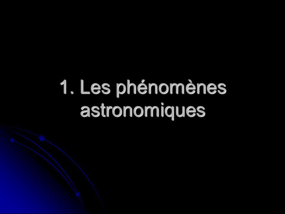 1. Les phénomènes astronomiques