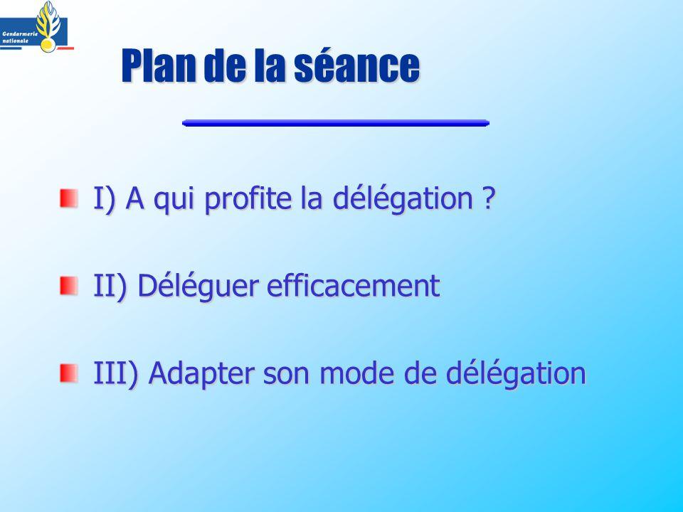 I) A qui profite la délégation .I) A qui profite la délégation .