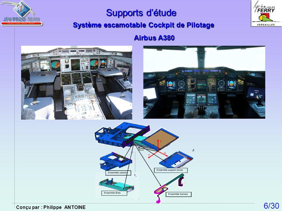 Supports détude Système escamotable Cockpit de Pilotage Airbus A380 6/30 Conçu par : Philippe ANTOINE