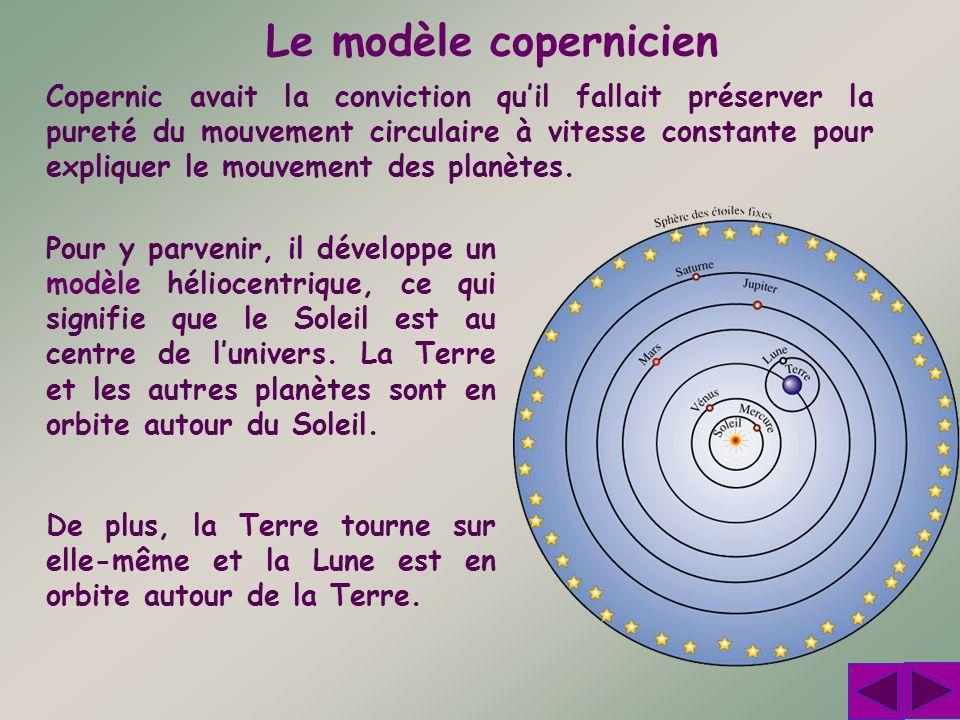 Le modèle de Copernic permettait dexpliquer simplement certains phénomènes qui semblaient étranges dans le modèle ptoléméen.