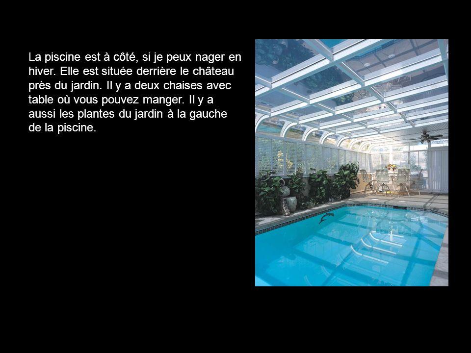 La piscine est à côté, si je peux nager en hiver.