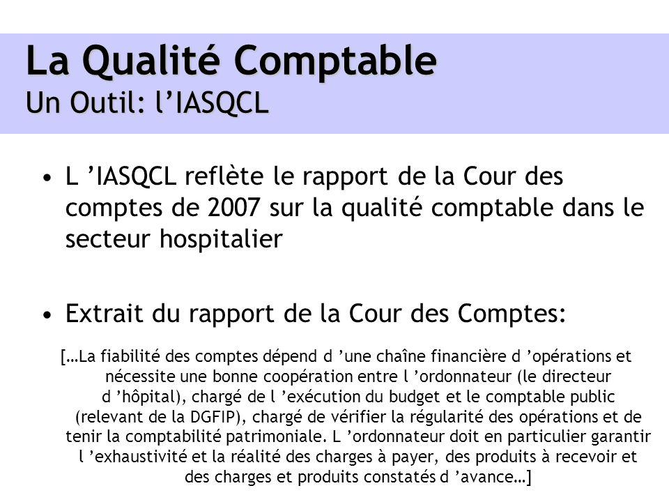 La Qualité Comptable Un Outil: lIASQCL L IASQCL reflète le rapport de la Cour des comptes de 2007 sur la qualité comptable dans le secteur hospitalier