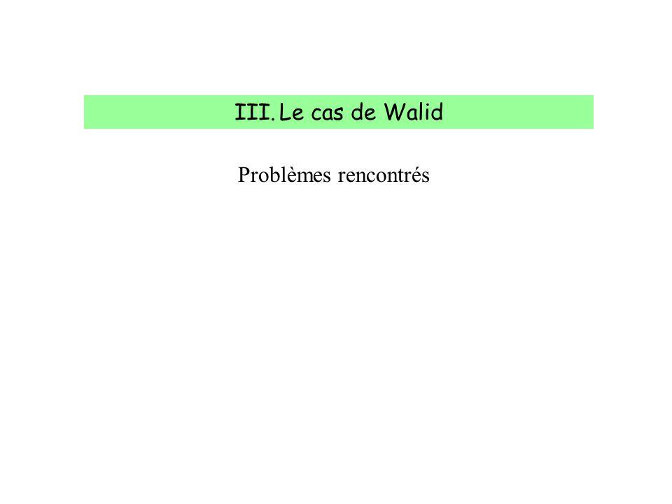 IV.Le cas de Walid Walid