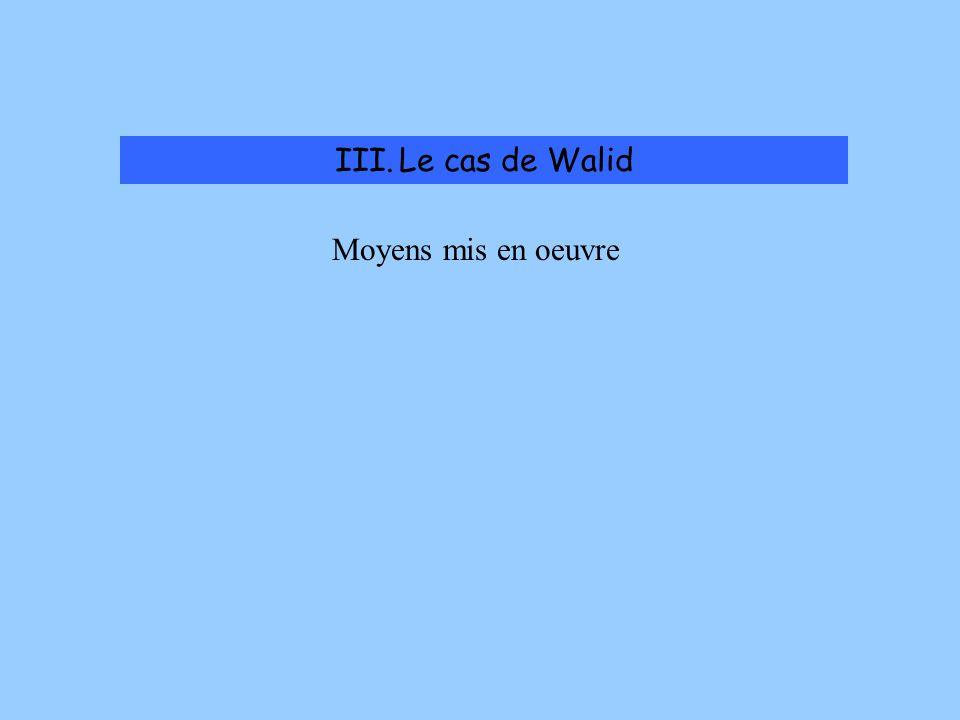 III.Le cas de Walid Problèmes rencontrés