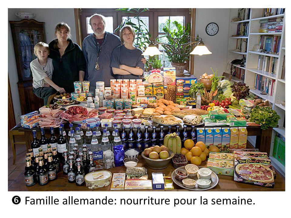 Famille allemande: nourriture pour la semaine.