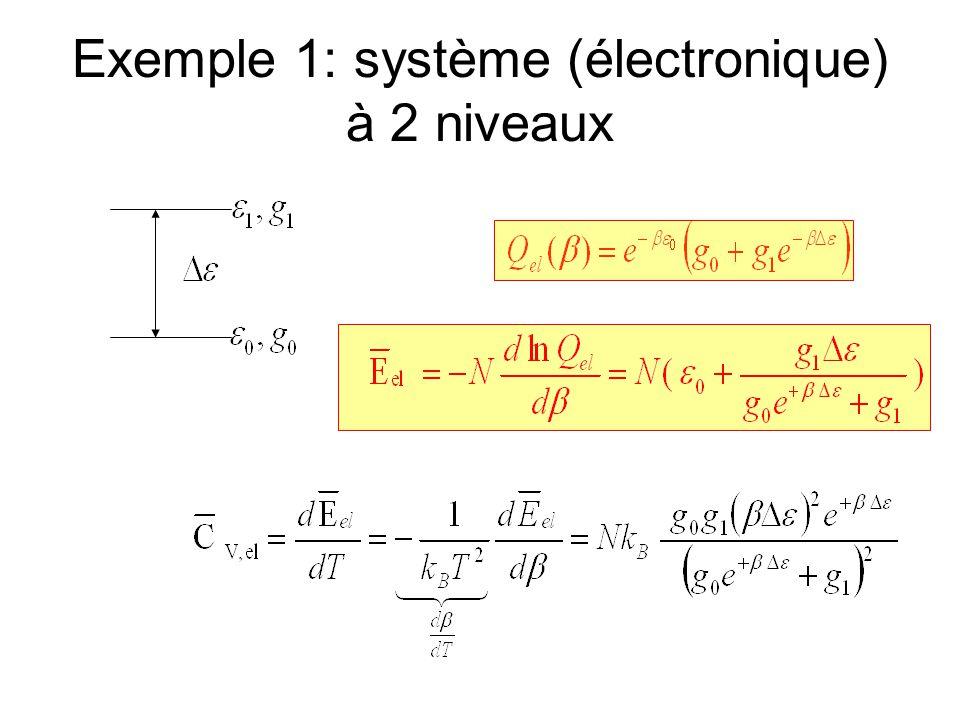 Exemple 1: système (électronique) à 2 niveaux