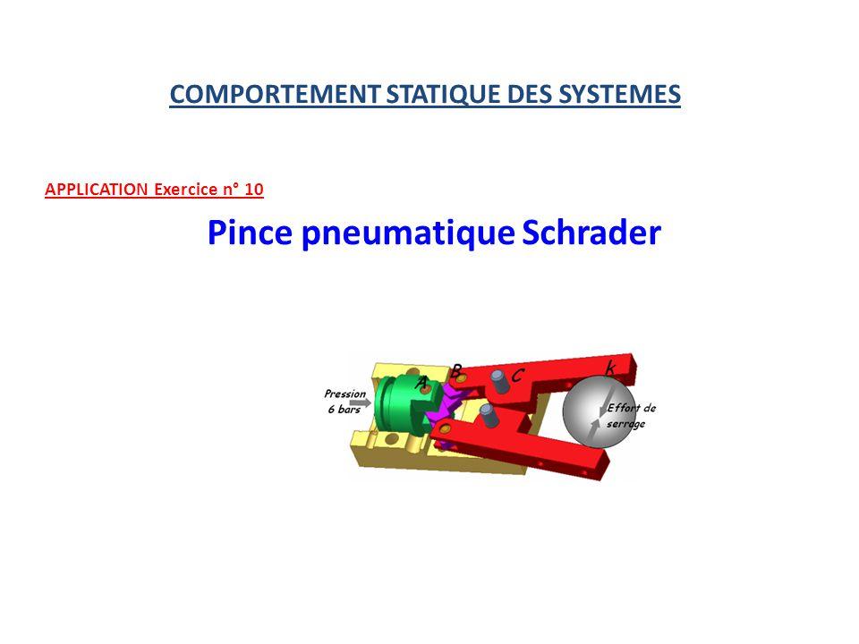(4) (5) (6) Ces 3 équations nous permettent de déter- miner toutes les composantes dactions mécaniques inconnues.