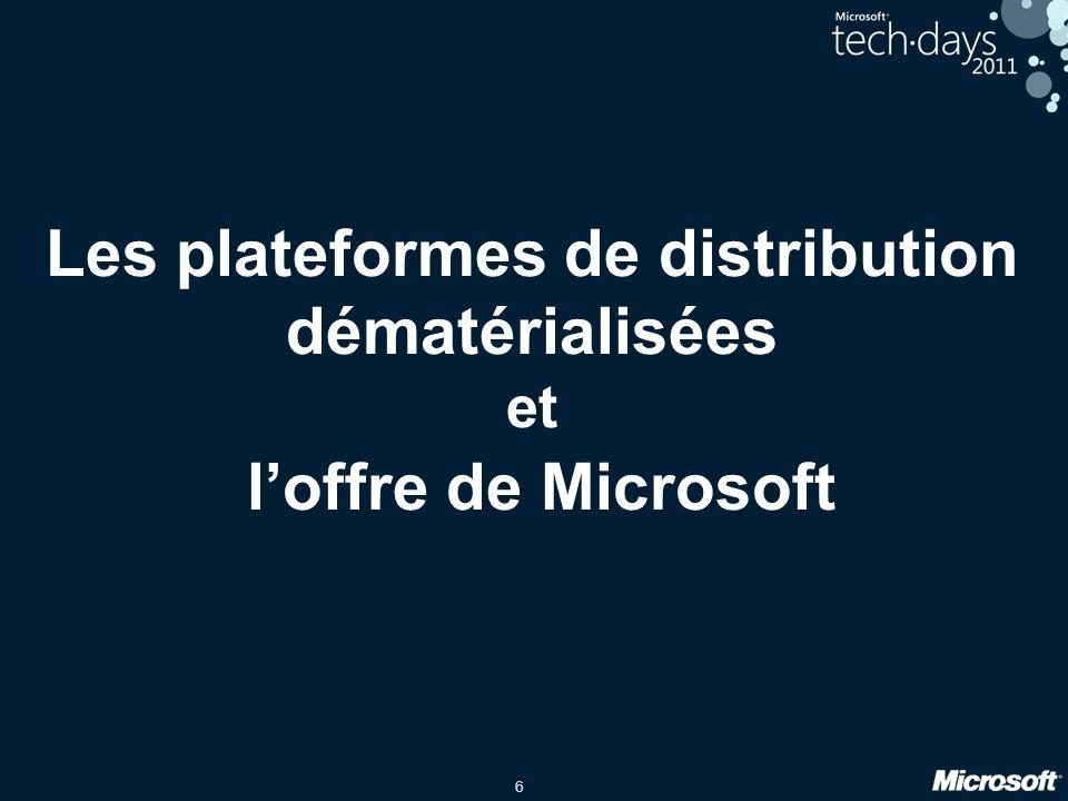 6 Les plateformes de distribution dématérialisées et loffre de Microsoft