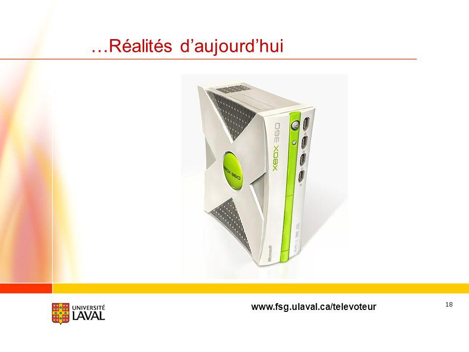 www.fsg.ulaval.ca/televoteur 17 …Réalités daujourdhui