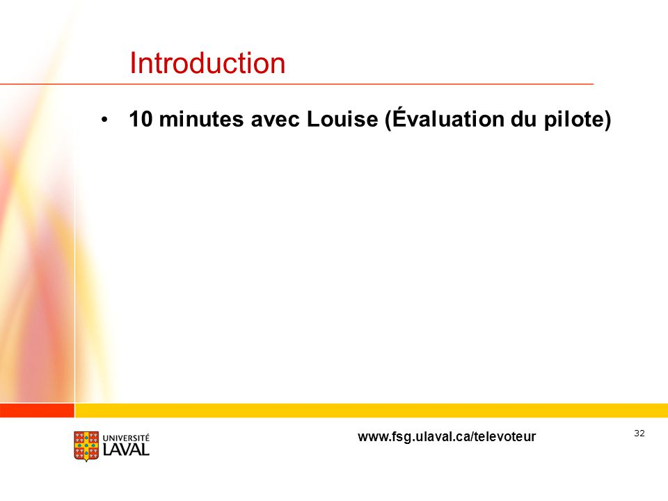 Louise Arsenault Faculté des sciences et de génie Université Laval Projet pilote Évaluation de linitiative H2006