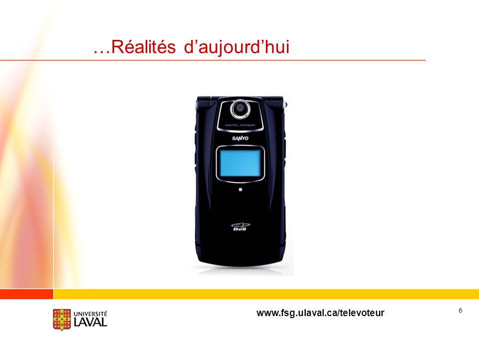 www.fsg.ulaval.ca/televoteur 5 Réalités dhier…