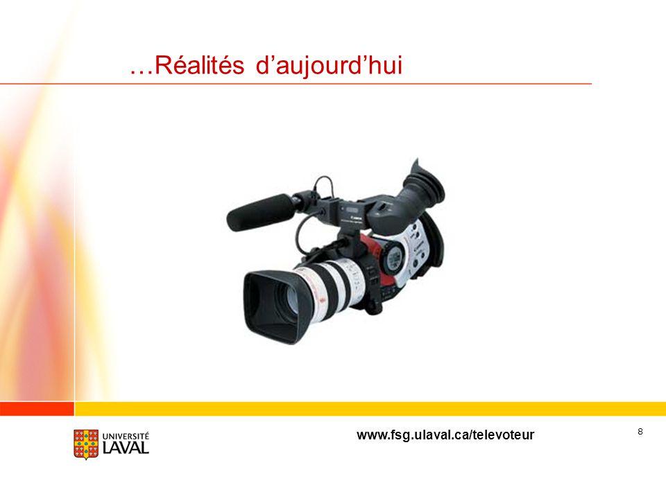 www.fsg.ulaval.ca/televoteur 8 …Réalités daujourdhui
