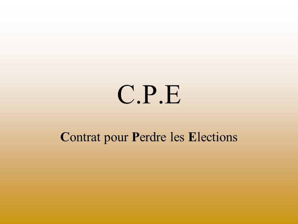 C.P.E Contrat pour Perdre les Elections