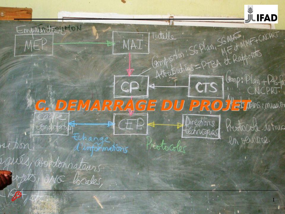 111 C. DEMARRAGE DU PROJET