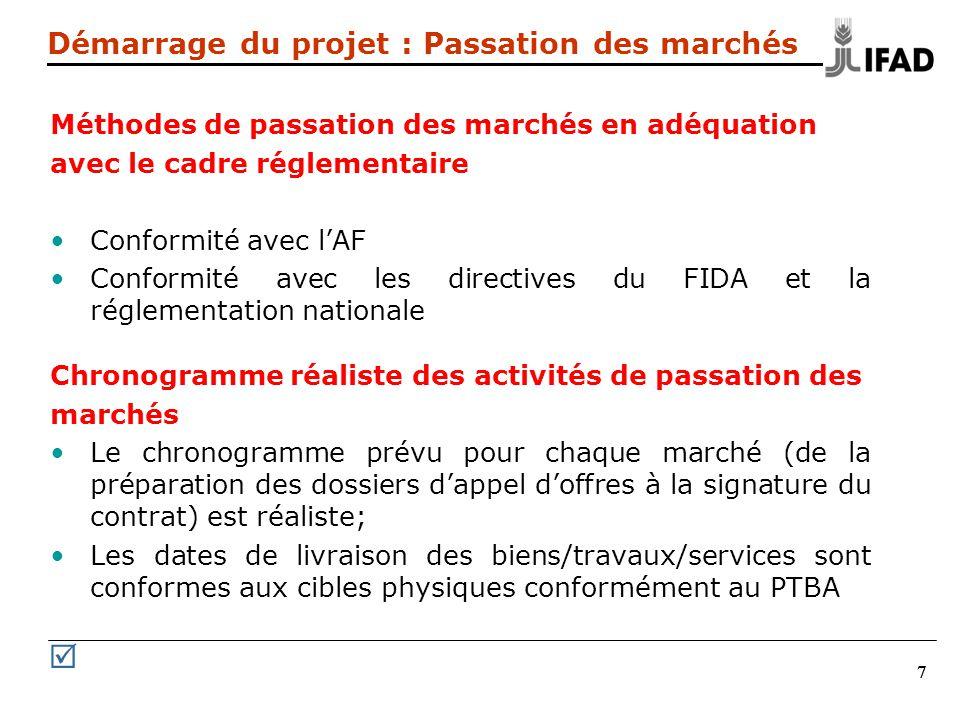 METHODES DE PASSATION DES MARCHES TRAVAUX/FOURNITURES APPEL A LA CONCURRENCE INTERNATIONALE (AOI) APPEL A LA CONCURRENCE INTERNATIONALE RESTREINT (AOIR) APPEL A LA CONCURRENCE NATIONALE (AON) CONSULTATION DE FOURNISSEUR A LECHELON NATIONAL OU INTERNATIONAL (CFI) & (CFN) PASSATION DE MARCHE PAR ENTENTE DIRECTE (E/D) TRAVAUX EN REGIE MARCHES PASSES AUPRES DINSTITUTIONS DES NATIONS UNIES (IAPSO, FAO, OMS, UNICEF, UNOPS)