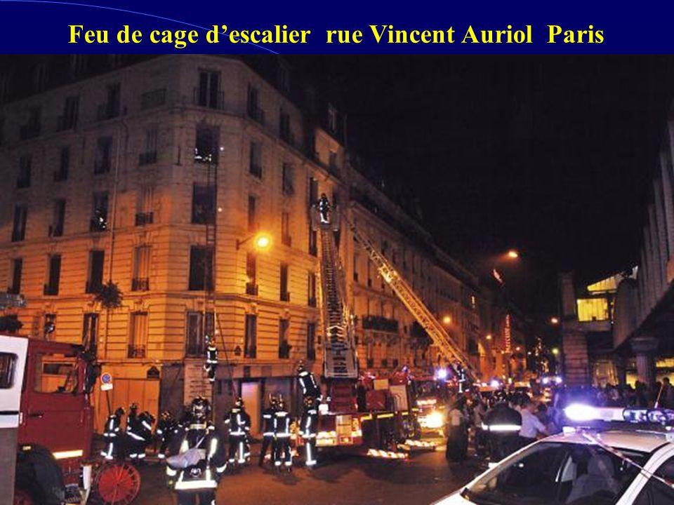 Feu de cage descalier rue Vincent Auriol Paris