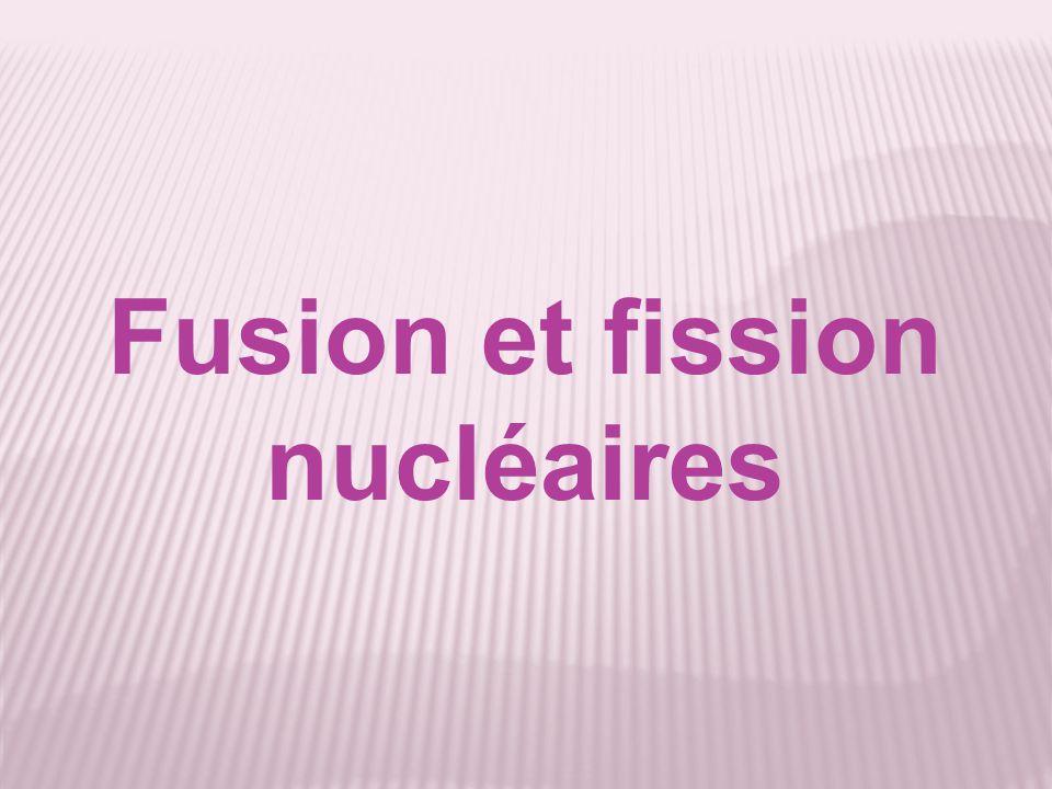 Fusion et fission nucléaires