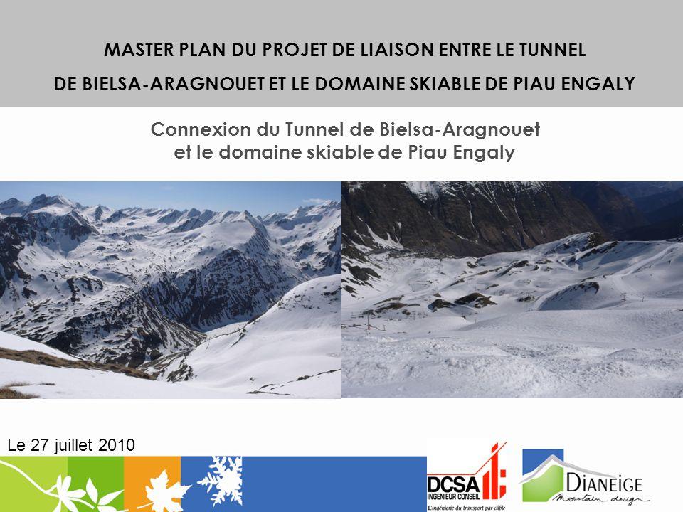 MASTER PLAN DU PROJET DE LIAISON ENTRE LE TUNNEL DE BIELSA-ARAGNOUET ET LE DOMAINE SKIABLE DE PIAU ENGALY Connexion du Tunnel de Bielsa-Aragnouet et l