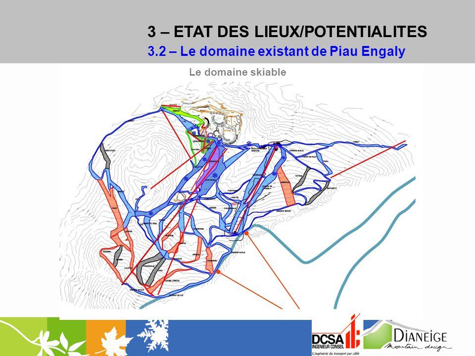 3 – ETAT DES LIEUX/POTENTIALITES 3.2 – Le domaine existant de Piau Engaly Le domaine skiable