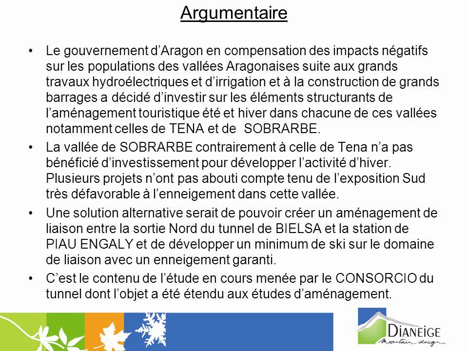 Argumentaire Le gouvernement dAragon en compensation des impacts négatifs sur les populations des vallées Aragonaises suite aux grands travaux hydroél