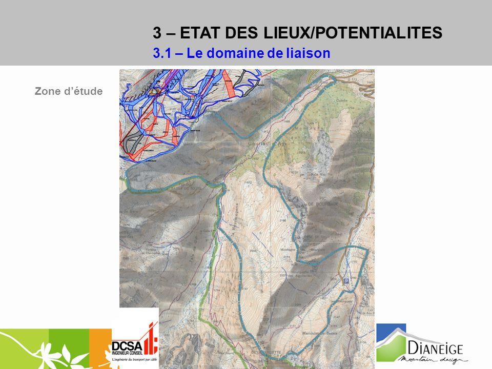 Zone détude 3 – ETAT DES LIEUX/POTENTIALITES 3.1 – Le domaine de liaison