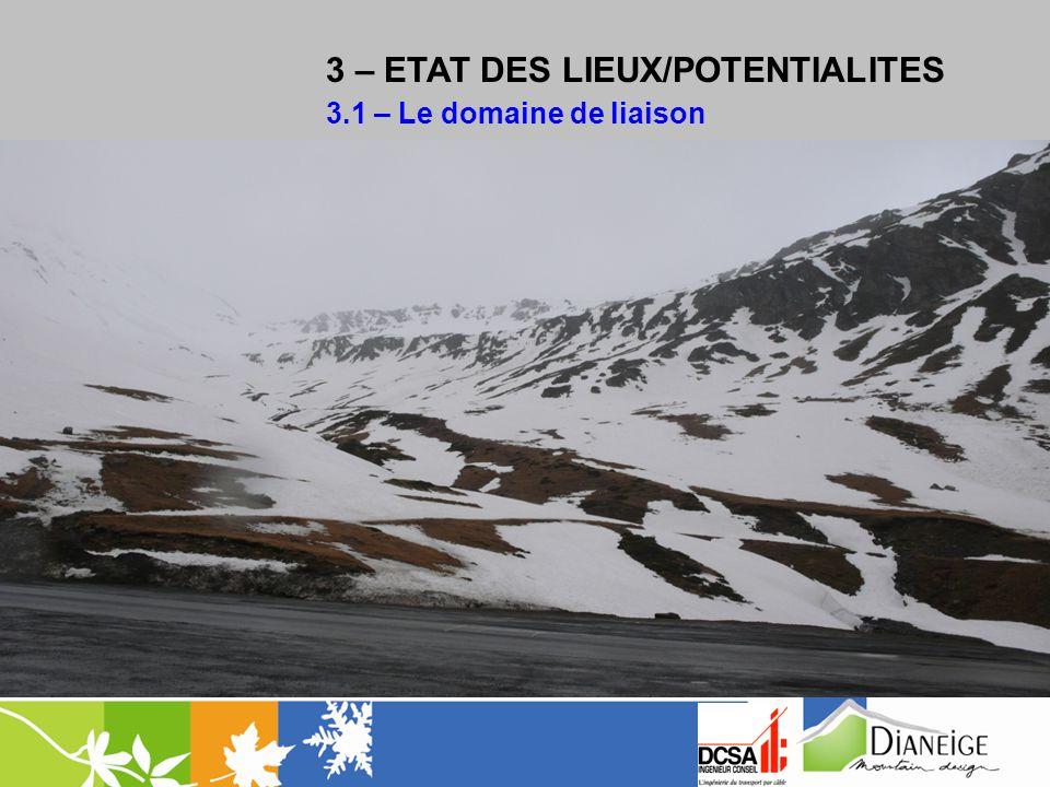 3 – ETAT DES LIEUX/POTENTIALITES 3.1 – Le domaine de liaison