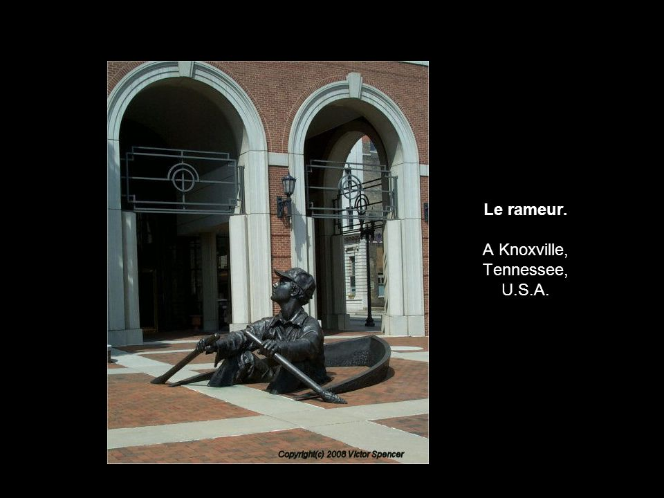 Le rameur. A Knoxville, Tennessee, U.S.A.