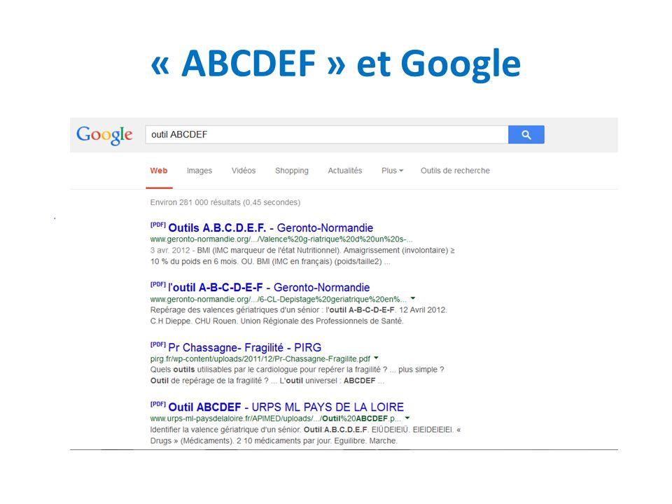 « ABCDEF » et Google