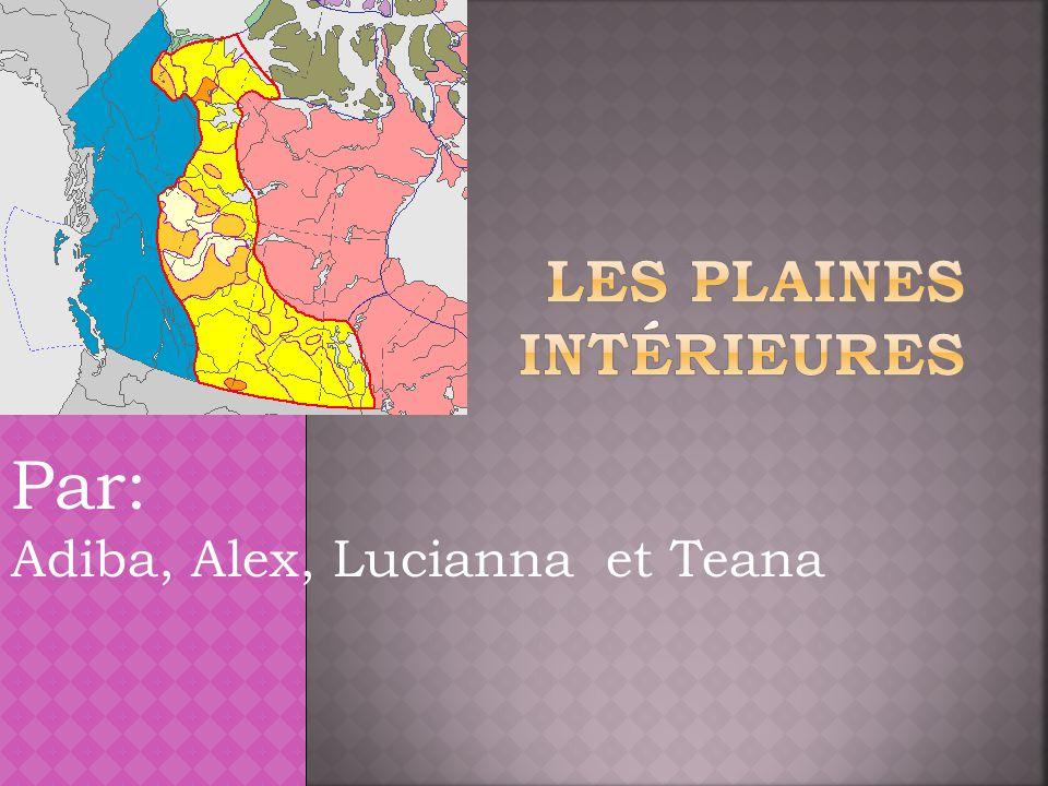Les plaines intérieures est une région très riche en pétrole.