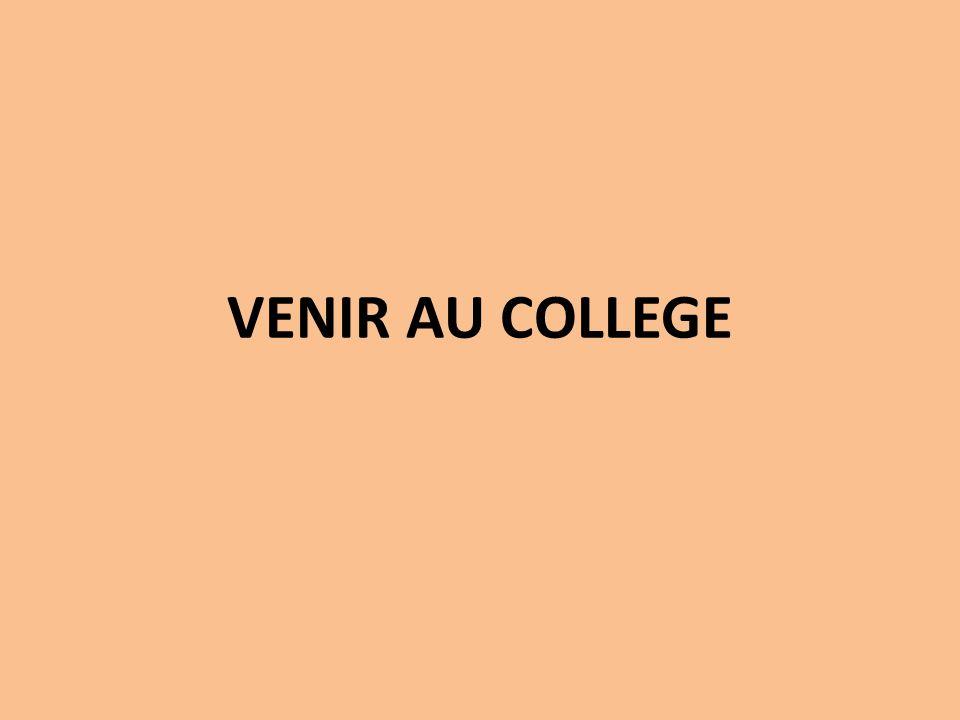 VENIR AU COLLEGE
