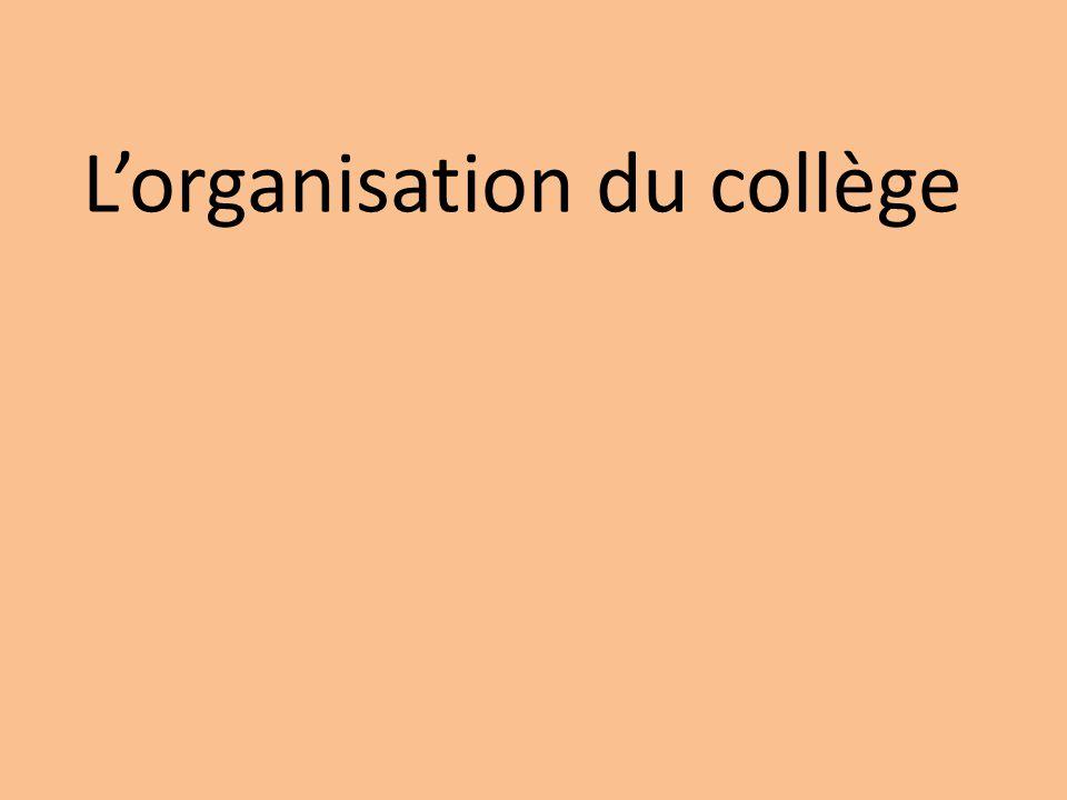 Lorganisation du collège
