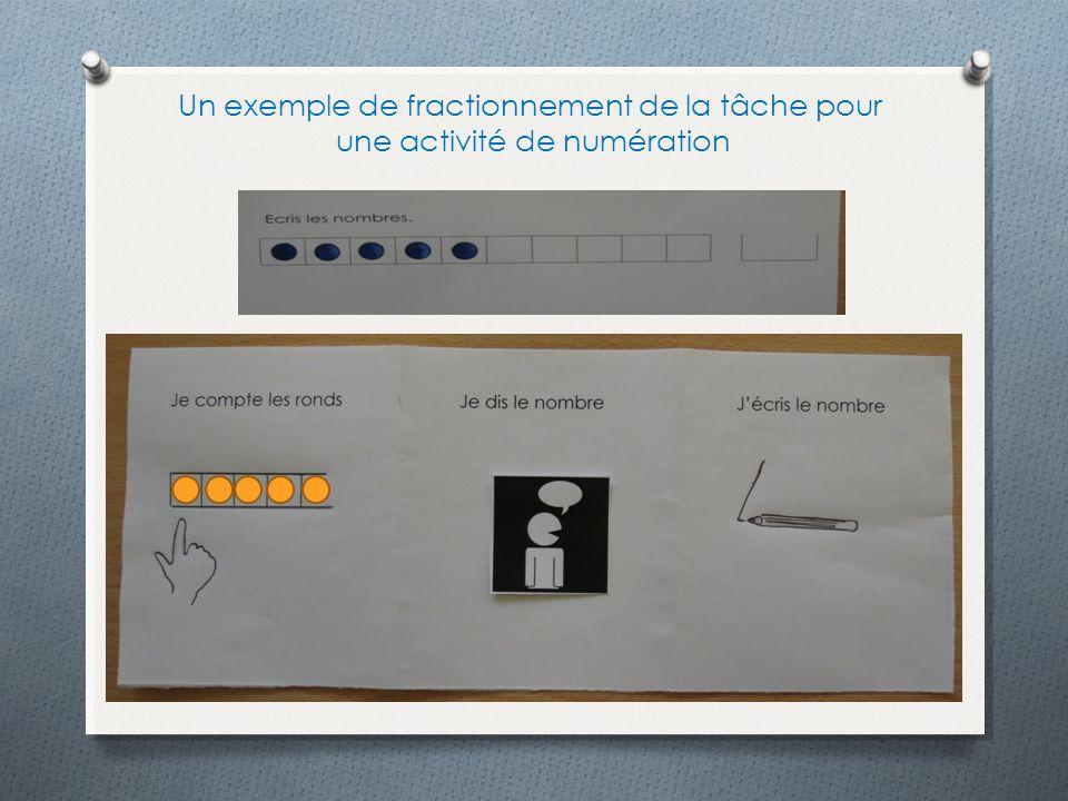 Un exemple de fractionnement de la tâche pour une activité de numération