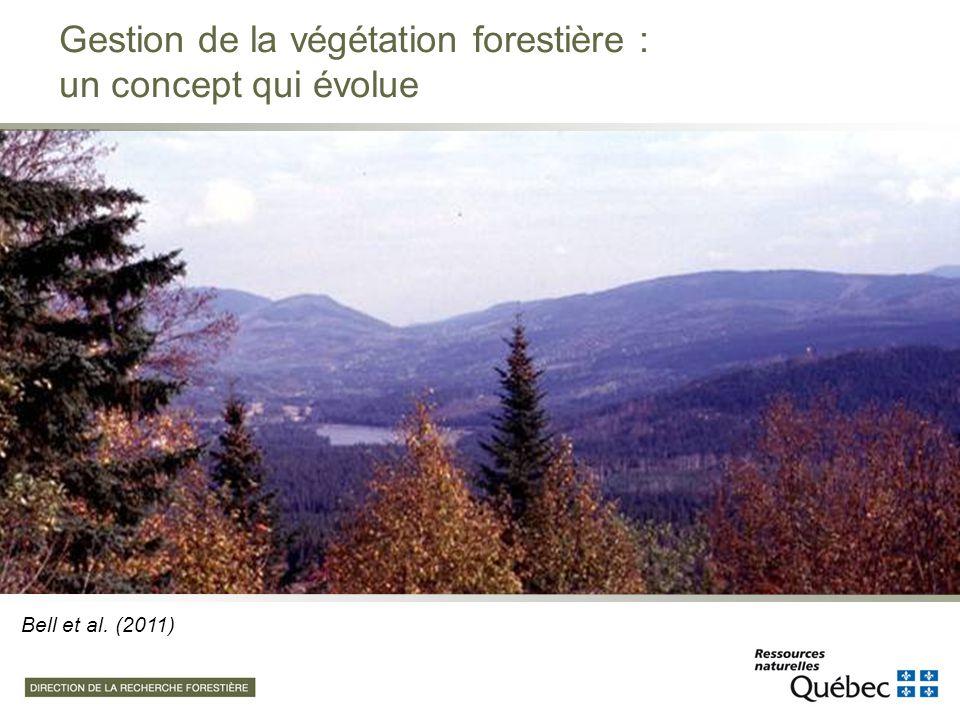 Au Canada, on dénombre plus de 70 espèces considérées comme des compétiteurs significatifs pour la régénération forestière résineuse Adapté de Bell, Kershaw et al.